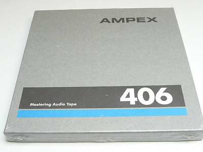 "Ampex 406 1/4"" Magnetic Mastering Audio Tape 7"" Reel 1200 Feet (New)"