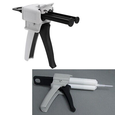 50ML AB Epoxy Glue Gun Applicator Glue Adhensive Mixed 1:1 2:1 Handle Spread ~