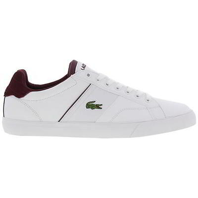 Lacoste Fairlead 317 2 Mens White Leather Trainers Shoes Size UK 7-12