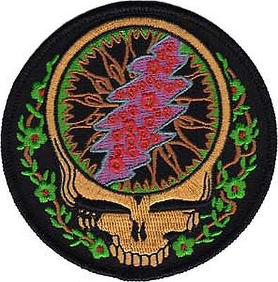 Grateful Dead - Steal Your Face Vines - Embroidered Patch - Brand New - 3804