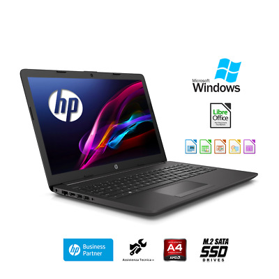 "Notebook Hp G6 15.6"" Cpu Quad Core Ram 4Gb /hd 500Gb /video Radeon R2 Windows 10"
