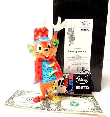 "Brand New in Box, Disney's Dumbo, Timothy Mouse Figurine 5.5""H by Romero Britto!"