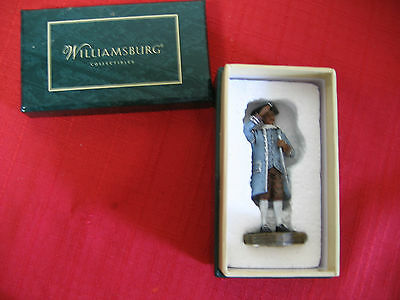 """Lang and Wise Williamsburg """"2003"""" Governor's Footman""""  figurines"""