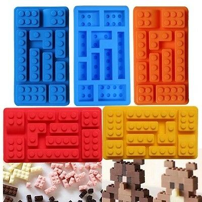 Lego Mould  Rectangular Cake topper jelly mould chocolate Fondant 1st Class post