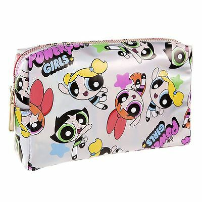 Officially Licensed The Powerpuff Girls All Over Print Silver Wash Toiletry Bag