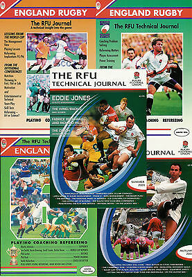 ENGLAND RUGBY - RFU TECHNICAL JOURNAL 1995 - 2003 CHOICE of ISSUES