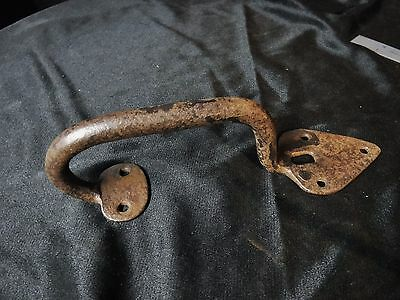 1700s Pennsylvania Suffolk Thumb Latch Wrought Iron Hand Forged Door Salvage