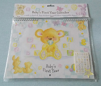 New - Baby's First Year Calendar