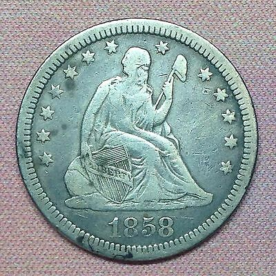 1858 Seated Liberty Quarter