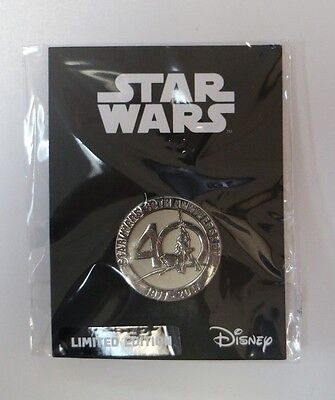 Star Wars Celebration 2017 Orlando 40th Anniversary Silver Pin Toynk Exclusive
