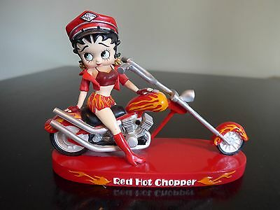 Betty Boop Collectible Red Hot Chopper Figurine  Motorcycle