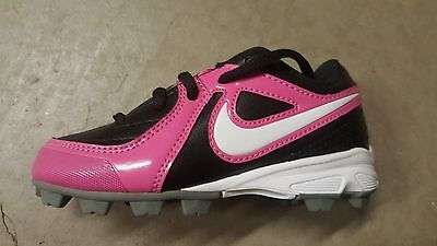 Nike Girl's Unify Keystone GS Rubber Cleats Black & Pink Brand New in Box