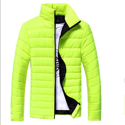 New Men's Fashion Stand Collar Warm Overcoat Casual Solid Outwear Basic Jacket