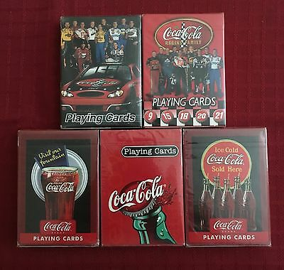 Bicycle brand Coca-Cola Playing Cards Lot of 5