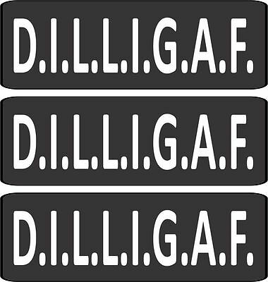 3 DILLIGAF Does It Look Like I Hard Hat Decal Sticker Motorcycle Helmet HS422
