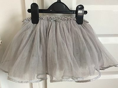 Girl's NEXT Grey Tutu with Silver Edging 9~12 months