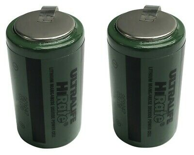2 Ultralife 3V 4.8Ah HiRate Lithium Manganese Dioxide Power Cell Size D Battery