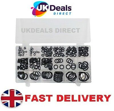 225pc Rubber O-Ring Tap Washers Gasket Set Seal Assorted plumbing +petrol diesel