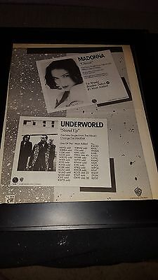 Madonna Cherish/Underworld Stand Up Rare Original Radio Promo Poster Ad Framed!