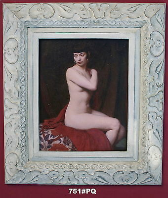 Nude Lady Framed Oleograph / Oilograph  751#PQ  Reproduction Picture , Art