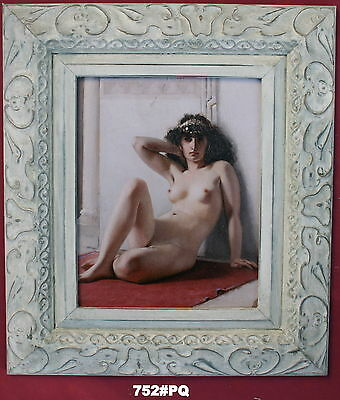 Nude Lady Framed Oleograph / Oilograph  752#PQ  Reproduction Picture , Art