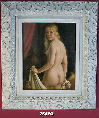 Nude Lady Framed Oleograph / Oilograph  754#PQ  Reproduction Picture , Art