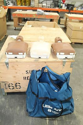 LOT OF (3) Three LAERDAL LITTLE ANNE WITH BAG RESCUE ANNIE