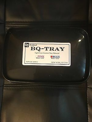 Light Cure Custom Tray Material - BQ Tray -  Blue - 50 Pcs/Box