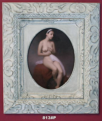 Nude Lady Framed Oleograph/ Oilograph  813#P  Reproduction Picture , Art     .