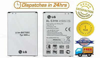 OEM Original LG G3 BL-53YH Battery for D850 D851 D852 D855 LS990 VS985 F400