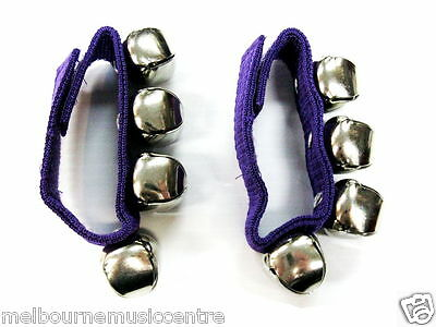WRIST BELLS Pair Of 4 Bells On Strap *Velcro Ends To Secure Onto Wrist* NEW!