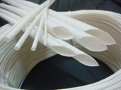 1m Glass Fiber High Temperature Electrical Insulation Tube Sleeving 600°C