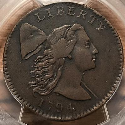 1794 Flowing Hair Large Cent Head of 94' PCGS XF-Details