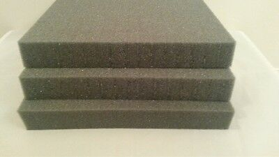 "Brand New Pick and Pluck Charcoal Foam 8"" X 8"" X 1"" with 1/2"" pull apart grid"