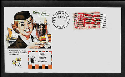 Vintage A&W Root Beer Ad Featured on Limited Edition Collector's Envelope *A527