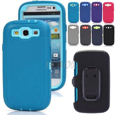 High Impact Armor Combo Heavy Duty Case + Belt Clip Holster For Samsung Galaxy