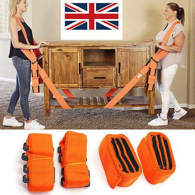 Lifting Shoulder Straps Moving Lift Aid Tool Heavy Furniture Appliances Dolly UK