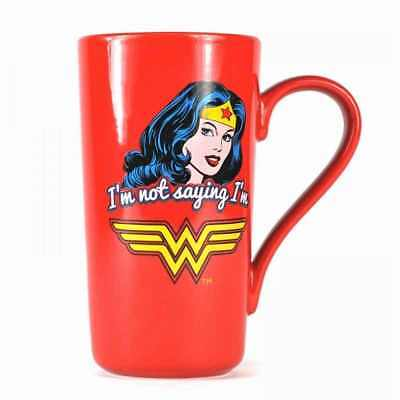 New Dc Comics Wonder Woman Iam Not Saying Latte Coffee Mug Cup New In Gift Box