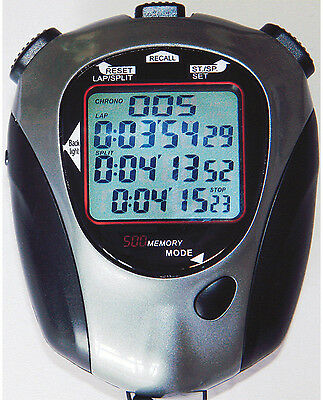 Fastime 26 Sports Stopwatch Handheld Digital Chronograph Clock Timer Counter