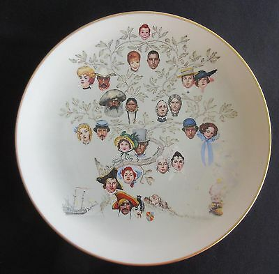 """Norman Rockwell """"A Family Tree"""" by Gorham - 10 5/8"""" Plate"""