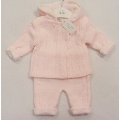Romany Spanish Style Knitted Outfit Trousers & Pram Coat Set by Zip Zap AW'17