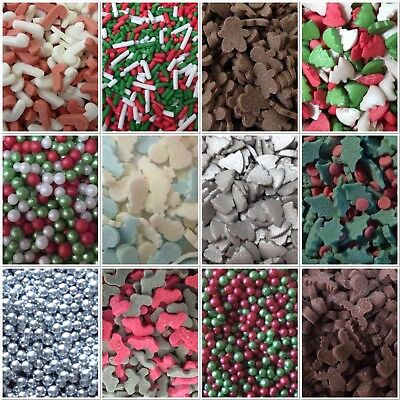 🎄Christmas Snowman Holly Candy Cane Xmas Tree Sprinkles Cake Decorations Topper