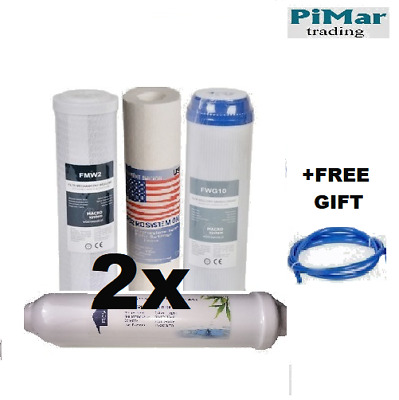 """Pack Of 8 Replacement  10"""" Pre Filters Set for Reverse Osmosis RO Water Filter"""