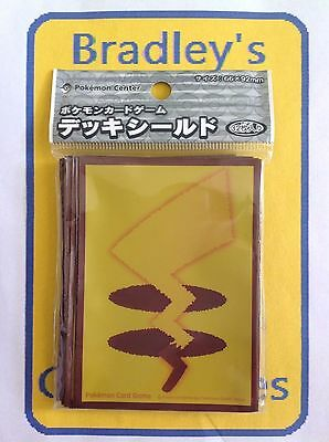 Japanese Pokemon Center Exclusive Pikachu Tail Brown Border Sleeves (Pack of 32)