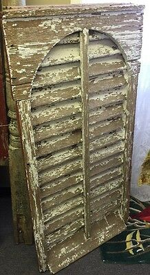 Old Antique Wooden Barn Damper Louvered Vent, Local PA Pick Up