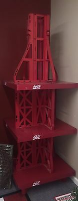 Large 6' Tall Plastic Coca Cola Coke Soda Display Rack, Local PU Only