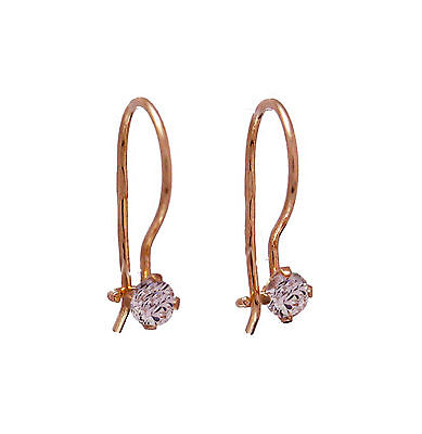 585 Russian 14ct Rose Gold Earrings