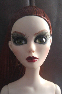 Evangeline Ghastly Nude Doll - 'bright Moon' - Rooted Chestnut Hair - Beautiful