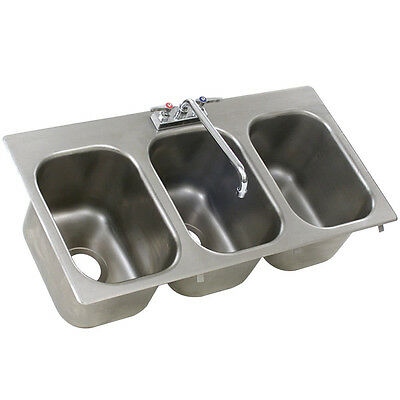 Eagle Group Commercial Stainless Steel 3-Compartment Drop In Sink