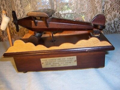 Spirit of St. Louis Wooden Music Box by George Good